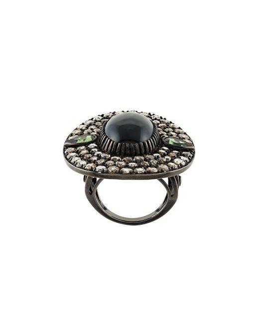 Monan - Black Stone Diamond Ring - Lyst