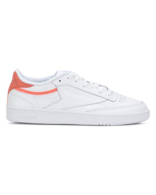 3af2d2210a8d Reebok - White Contrast Heel Sneakers - Lyst ...