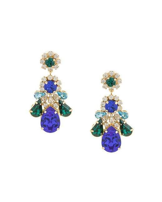 Shourouk - Multicolor Crystal Drop Earrings - Lyst