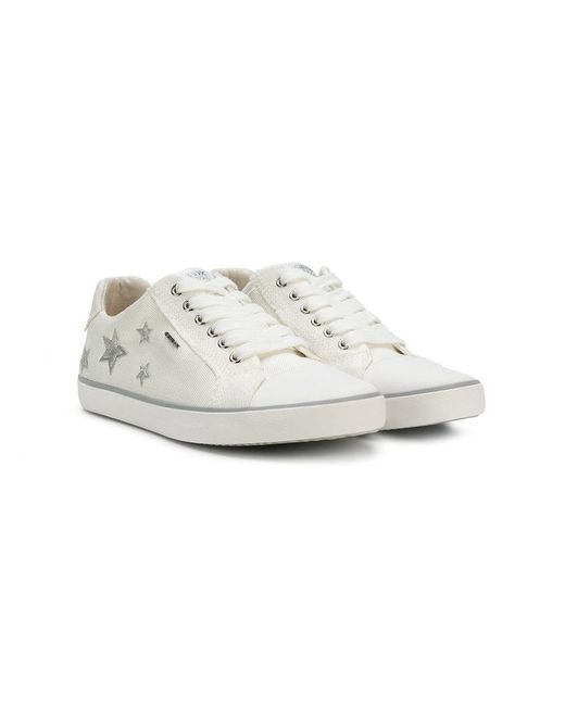Geox - White Star Patch Sneakers - Lyst
