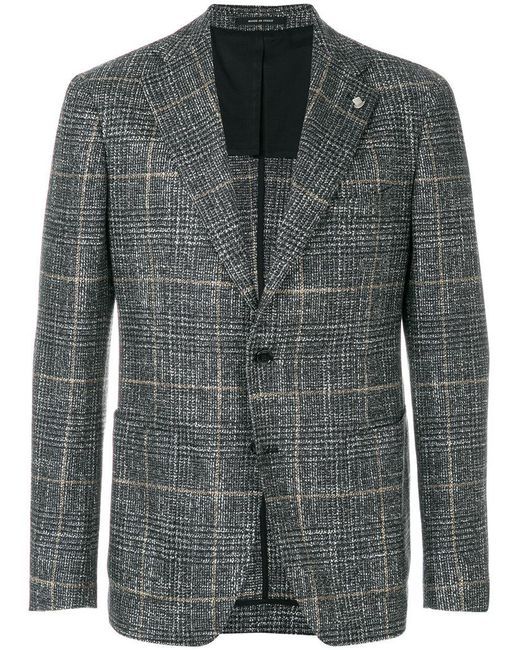 Tagliatore | Gray Prince Of Wales Suit for Men | Lyst