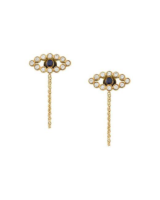 Ileana Makri | Metallic Chained Eye Stud Earrings | Lyst