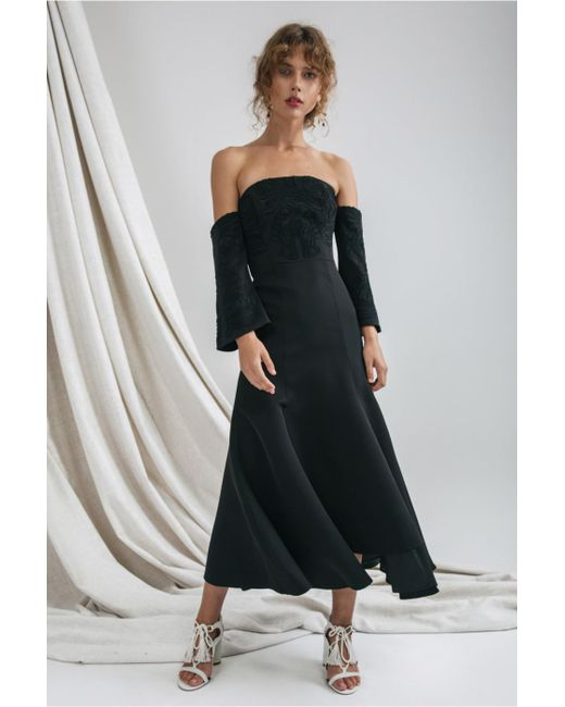 C/meo Collective - Black Paradise Midi Dress - Lyst