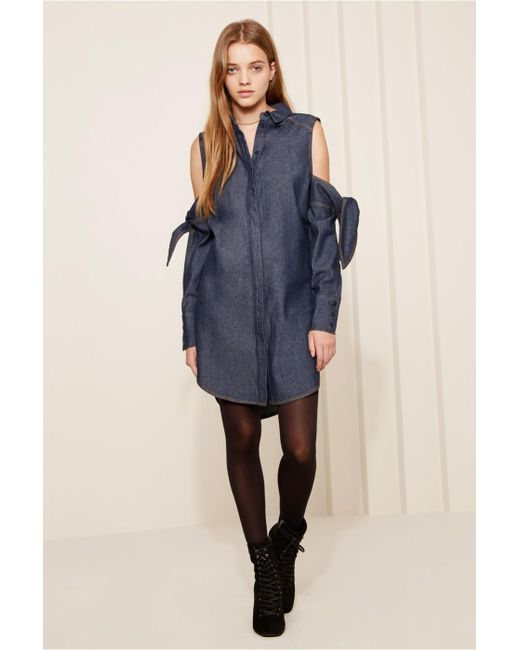 The Fifth Label - Blue Mania Shirt Dress - Lyst