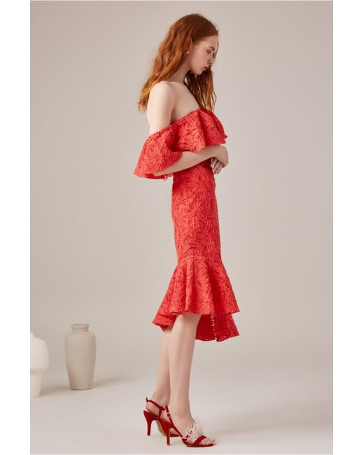 C/meo Collective - Red More To Give Midi Dress - Lyst