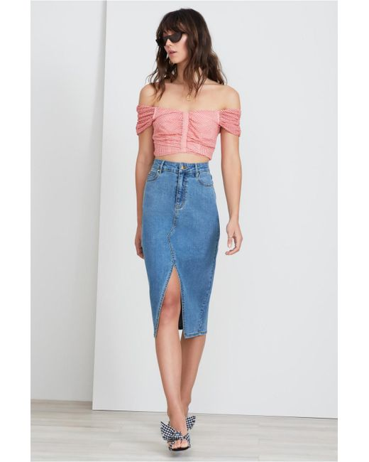 Finders Keepers - Blue Daydreamer Skirt - Lyst