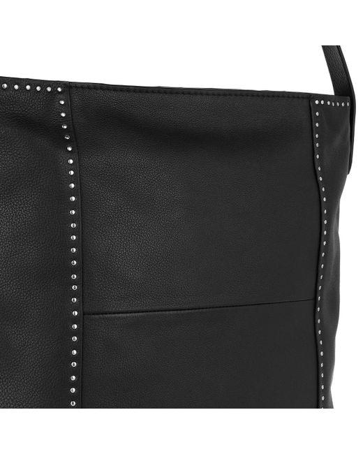 4b0b49e7b096 ... Liebeskind Berlin - Vintage Stud Love Hobo Bag Medium Black - Lyst ...