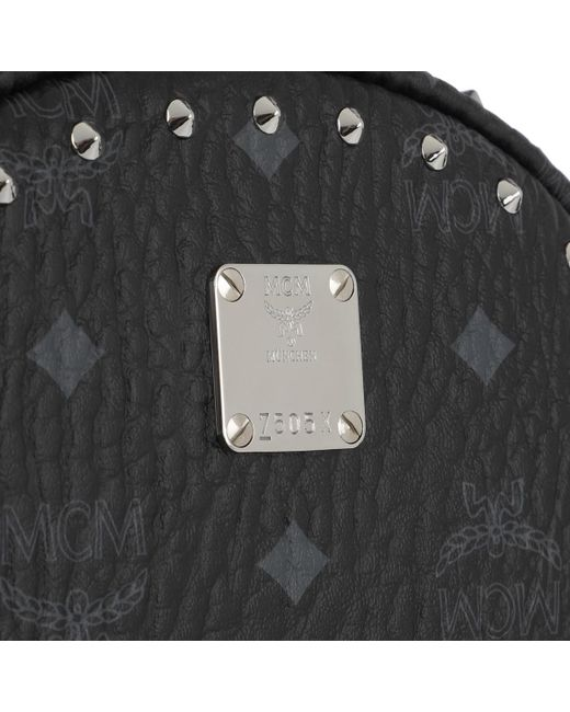 08d8f6a008ce ... MCM - Black Stark Outline Studs Convertible Visetos Backpack - Lyst ...