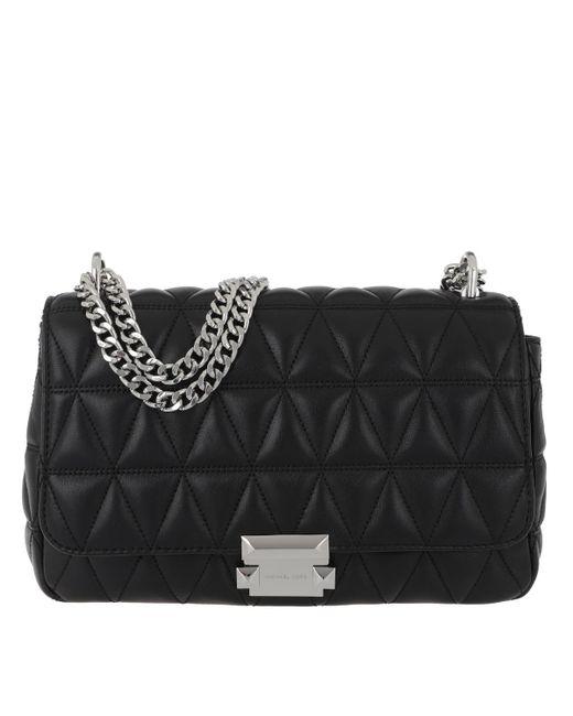 5553841e070d Michael Kors Sloan Lg Chain Shoulder Bag Black in Black - Lyst