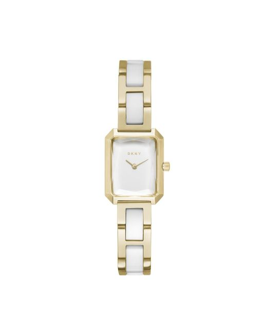 DKNY - Metallic Ny2671 Cityspire Watch Gold/white - Lyst