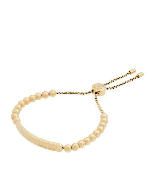 Michael Kors | Metallic Ladies Logo Bracelet Gold | Lyst