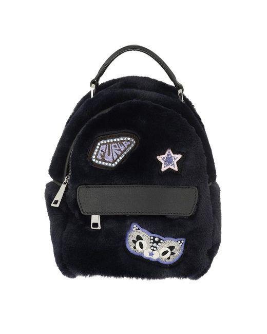 Furla - Black Favola Mini Backpack Blu D - Lyst