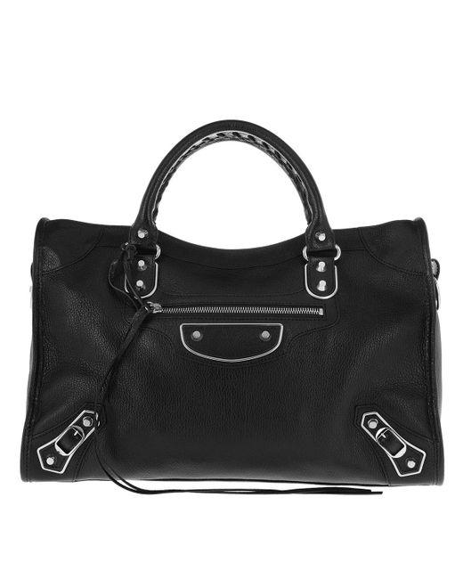 Balenciaga Classic City Highlight Shopping Bag Black in Black - Lyst dd3d53602ddae