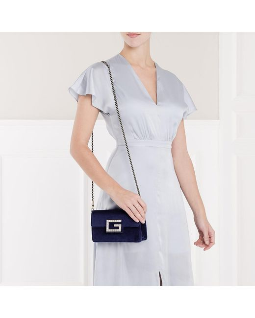 2f816e009c63 Gucci Blue Shoulder Bag With Square G in Blue - Save 32% - Lyst