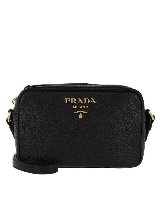 9c25c5e3312a Prada Logo Crossbody Bag Calf Leather Black in Black - Lyst