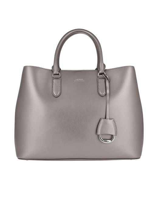 a37f71e97d3 Lauren by Ralph Lauren - Metallic Marcy Satchel Large Twilight - Lyst ...