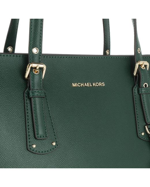 f26a4a48f9a8d5 ... Michael Kors - Voyager Md Multifunctional Tz Tote Racing Green - Lyst  ...