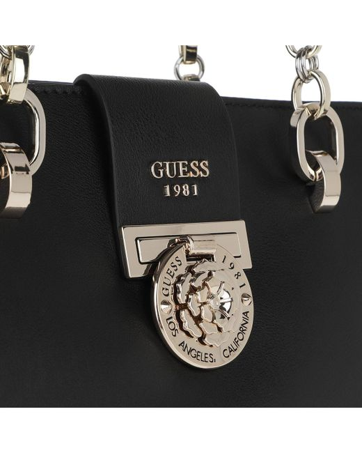6a583a1d6bae ... Guess - Marlene Luxury Satchel Black - Lyst ...