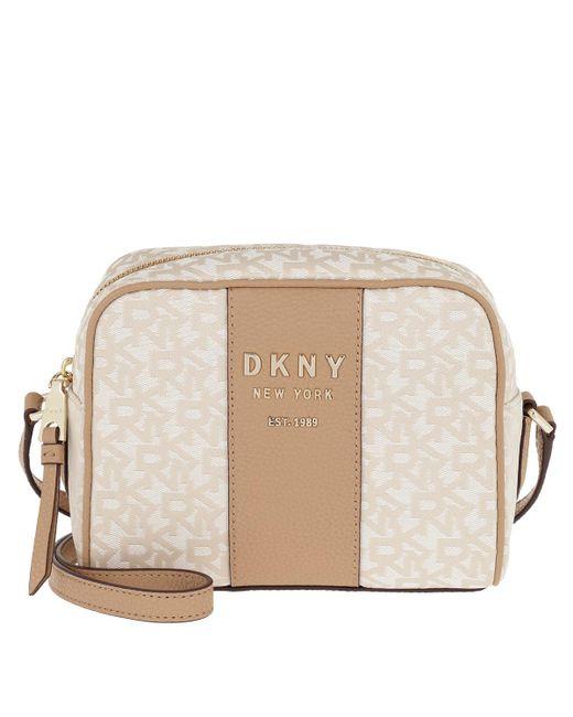 127663c5e246 DKNY - Natural Noho Camera Bag T c Logo latte - Lyst ...