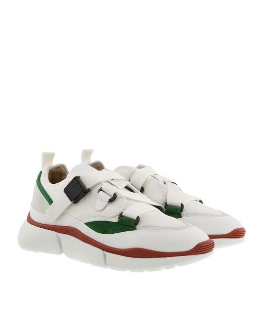 Chloé Leather Sonnie Low Top Sneaker Light Eucalyptus Lyst