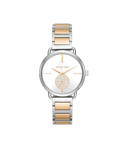 Michael Kors - Metallic Mk3679 Ladies Portia Watch Silver/gold - Lyst