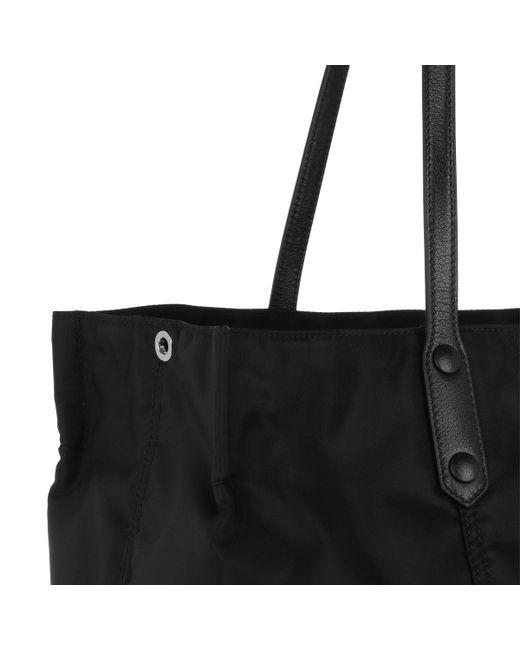 9af6f0fe6068 Prada Etiquette Bag Leather Black in Black - Lyst