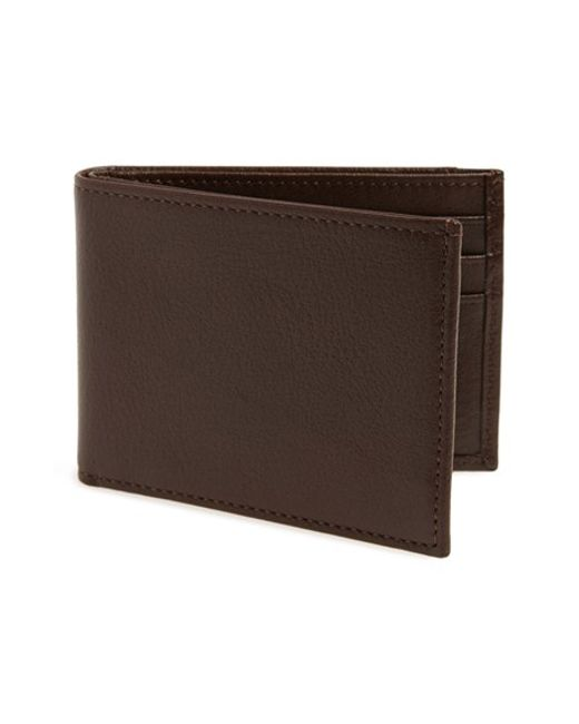 Johnston & Murphy | Brown Leather Wallet for Men | Lyst