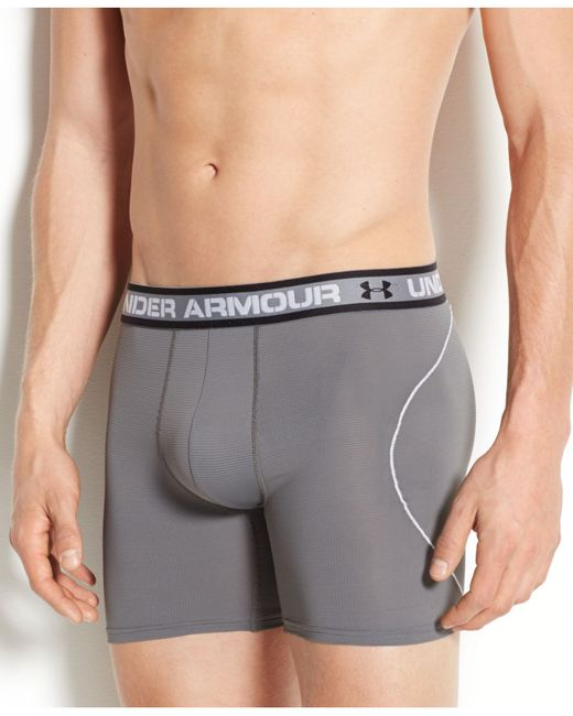 Under Armour | Gray Men's Iso-chill 6-inch Boxerjocks for Men | Lyst