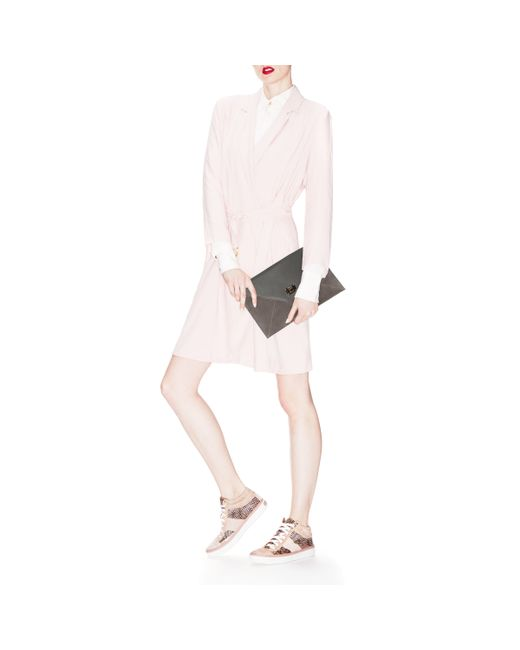 Jimmy Choo   Pink Tokyo Snake Print Glitter Sneaker   Lyst