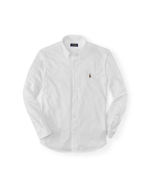 Polo Ralph Lauren | White Slim-fit Knit Oxford Shirt for Men | Lyst