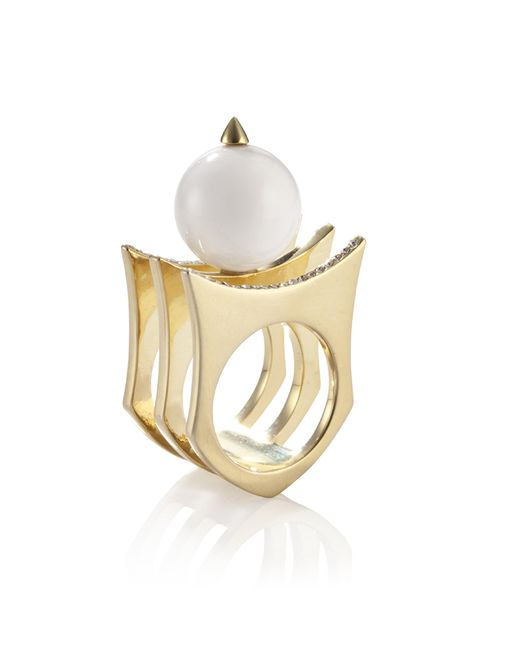 Yael Salomon | Metallic Greta 01 Gold And Pearl Ring | Lyst