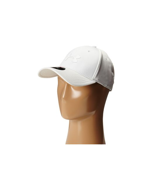 Under Armour | White Ua Headline Stretch Fit Cap for Men | Lyst