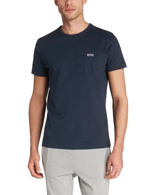 BOSS Green | Blue 'tee' | Cotton Jersey T-shirt for Men | Lyst