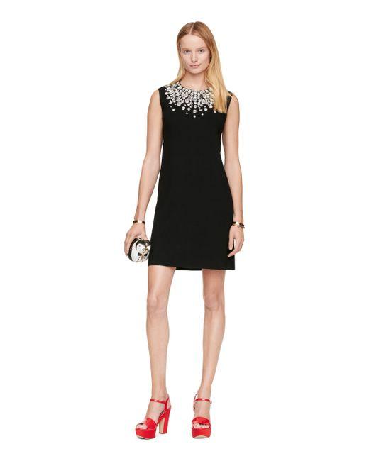 Kate Spade | Black Embellished Sweater Dress | Lyst
