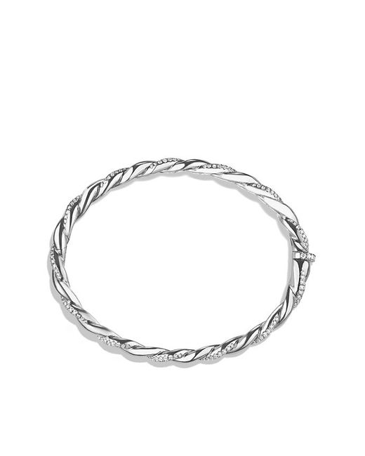 David Yurman | Metallic Wisteria Bracelet With Diamonds In 18k White Gold, 5mm | Lyst