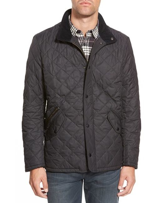 Barbour | Blue 'chelsea' Regular Fit Quilted Jacket for Men | Lyst