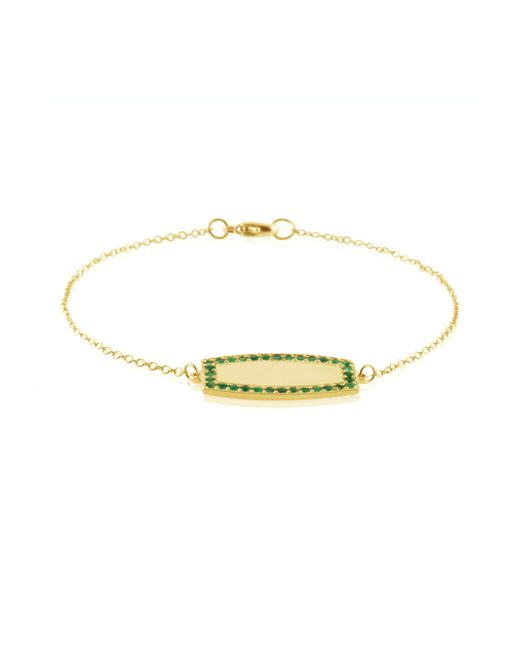 Emily & Ashley | Metallic Emerald Pave Id Bracelet | Lyst