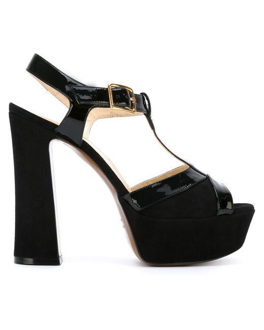 l autre chose platform t bar sandals in black save 31