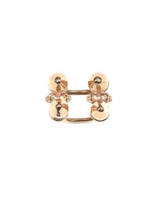 Bernard Delettrez | Metallic Four Stud Bronze Ring | Lyst