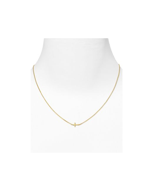 Dogeared | Metallic Gold Whisper Cross Necklace, 18"
