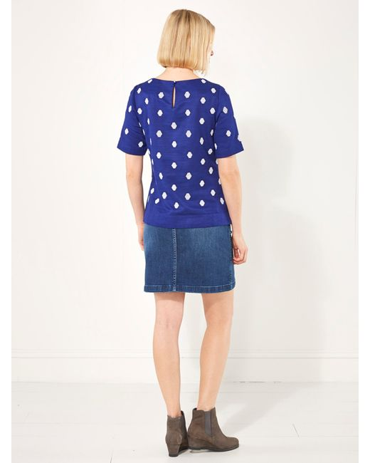 white stuff sandhurst denim skirt in blue denim save