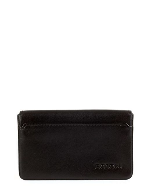 Boconi | Black 'collins' Rfid Card Case for Men | Lyst