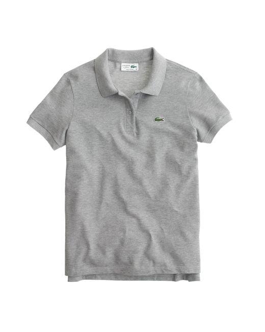 J.Crew | Gray Lacoste Polo Shirt | Lyst