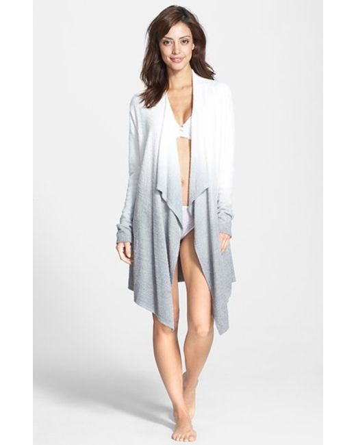 Barefoot Dreams | White Barefoot Dreams Drape Front Cardigan | Lyst