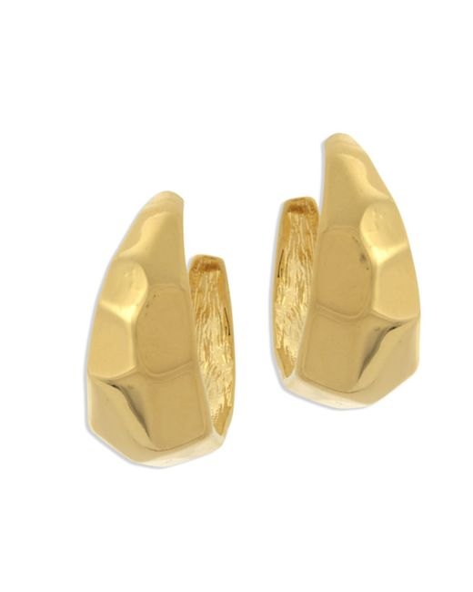 Kenneth Jay Lane | Metallic Polished Gold Hoop Pierced Earring | Lyst
