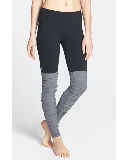 Alo Yoga 'goddess' Ribbed Leggings In Black (BLACK/ STORMY