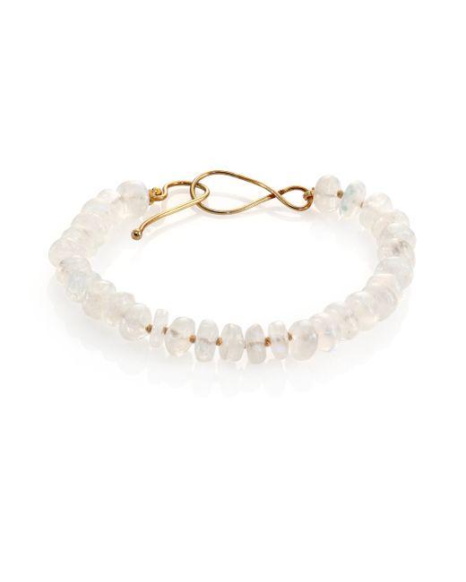 Lena Skadegard | White Moonstone Beaded Bracelet | Lyst