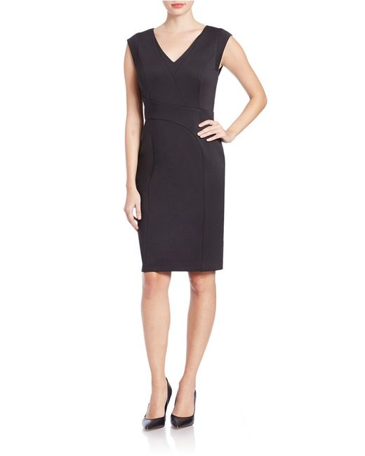 Karl Lagerfeld | Black Knit Sheath Dress | Lyst