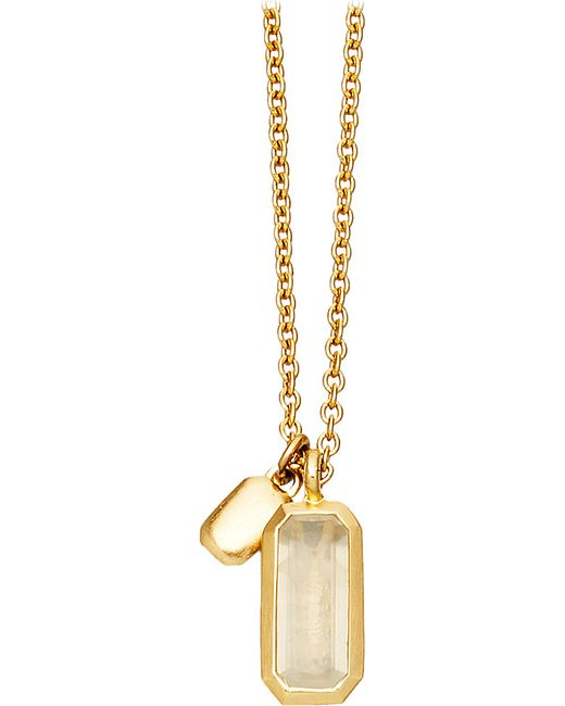 Astley Clarke | Metallic 18ct Gold Vermeil Moonstone Necklace | Lyst