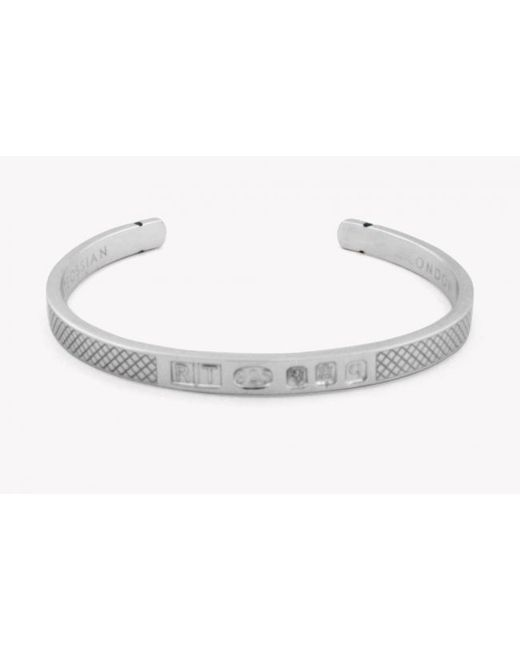 Tateossian | Metallic Limited Edition Silver Hallmark Bangle for Men | Lyst